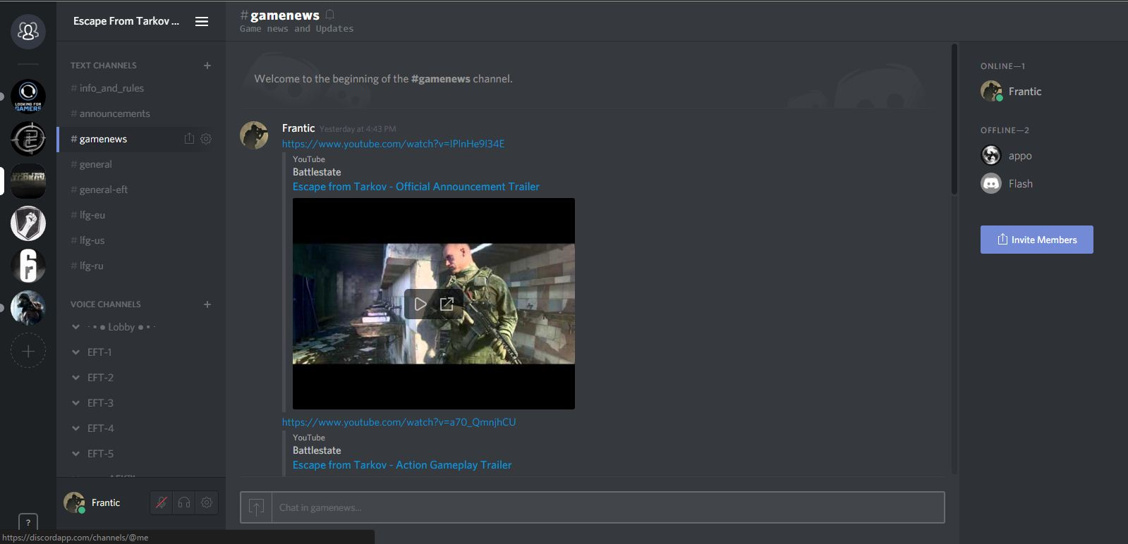 1 EFT Discord (Unofficial) - DO NOT VERIFY HERE - Clans