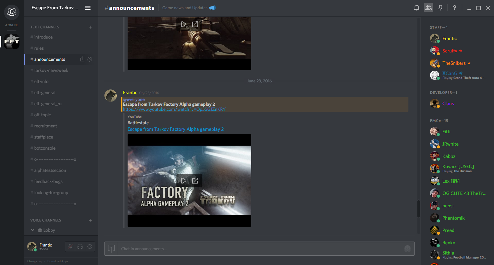 1 EFT Discord (Unofficial) - DO NOT VERIFY HERE - Page 2