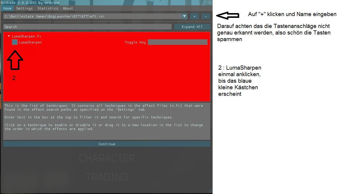 Reshade (LumaSharpen) - Allgemeines Spielforum - Escape from