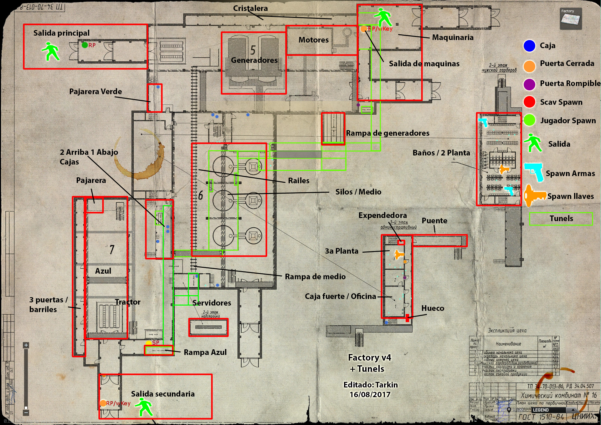 Factory Map v4 + tunnels - General game forum - Escape from