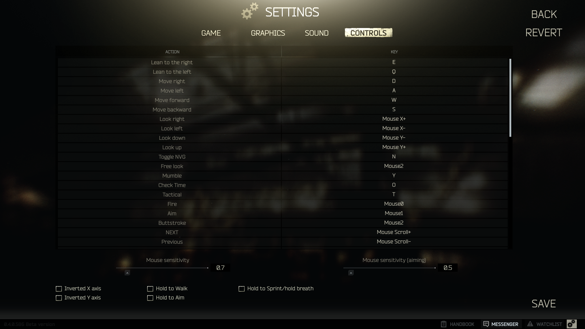 In Game Controls and Sensitivity Settings - Game questions