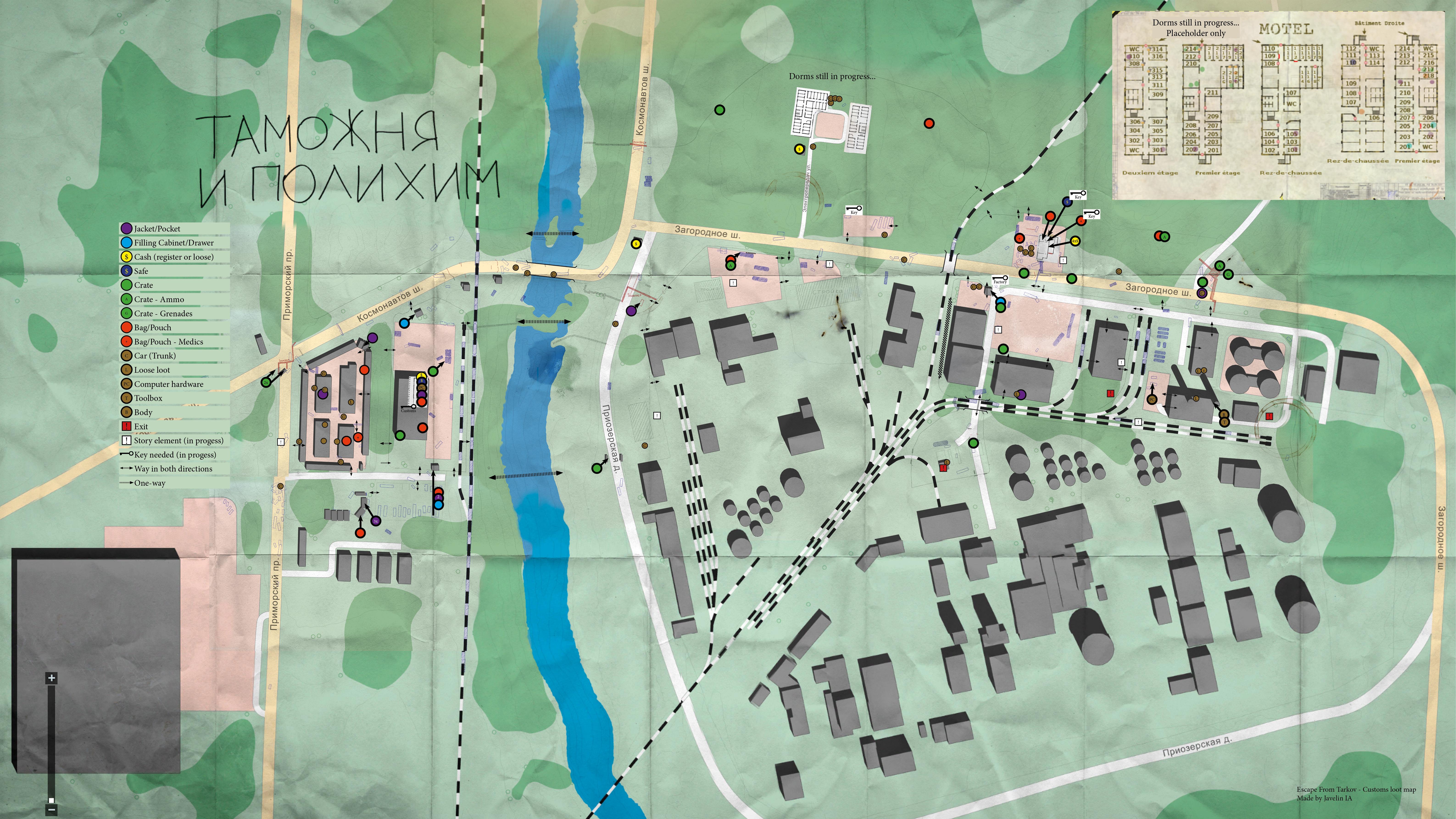 Customs Loot Map Fan Art Escape From Tarkov Forum -