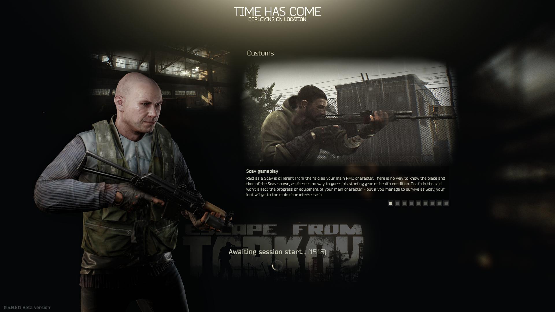 escape from tarkov game starting error