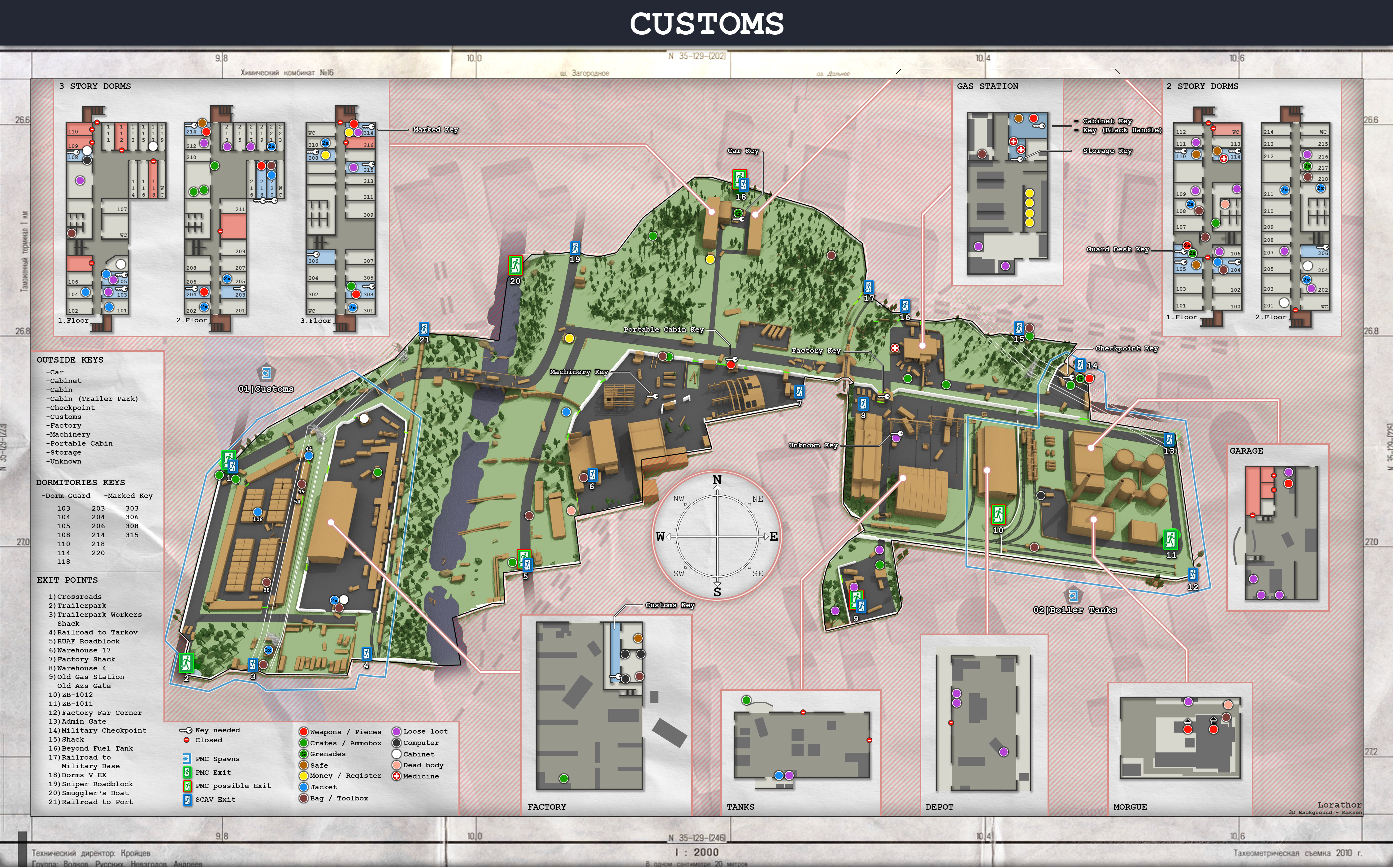 Customs Complete Map With Loot Keys And Buildings General Game Forum Escape From Tarkov Forum