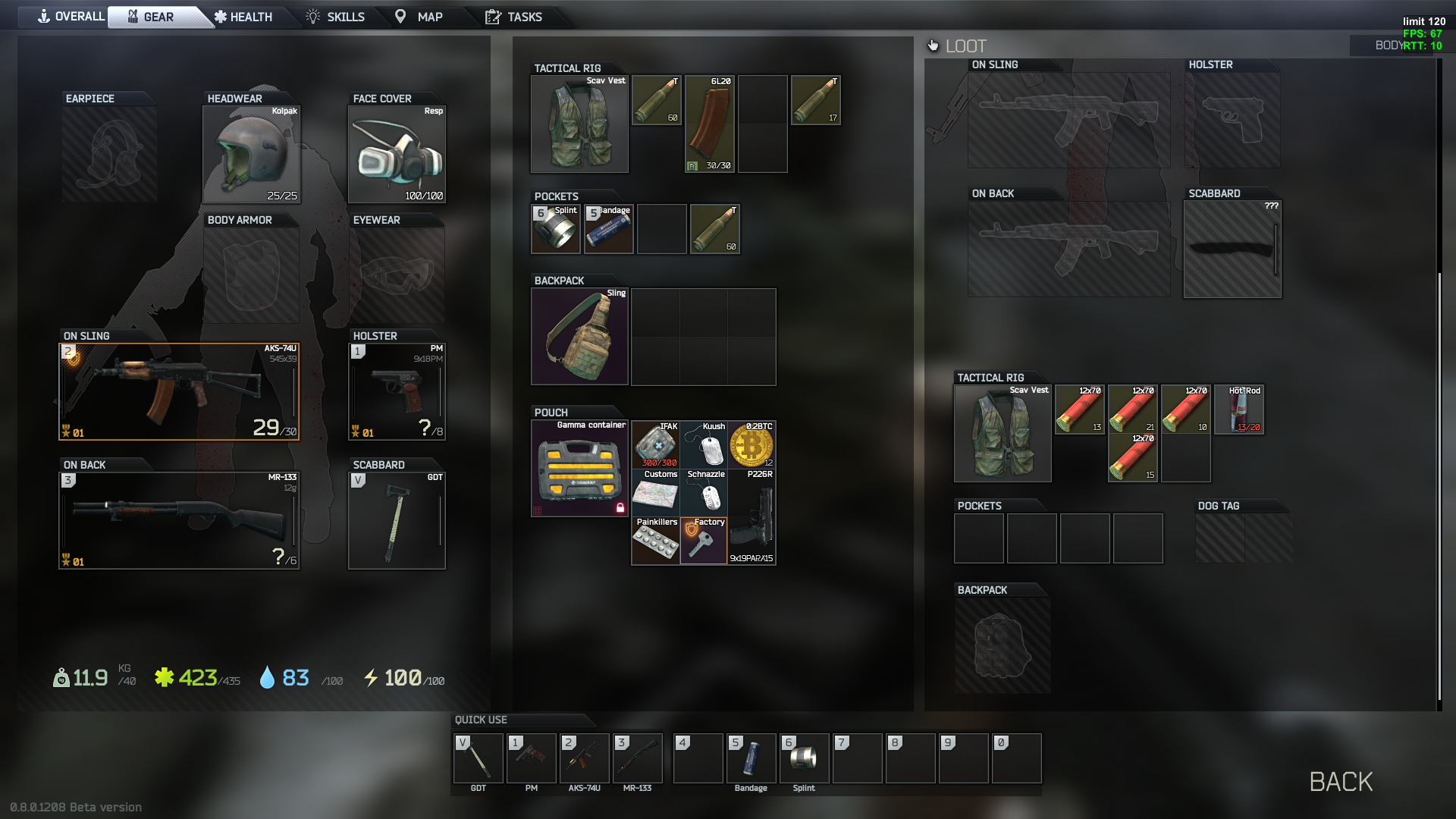 How do you get bitcoin in escape from tarkov