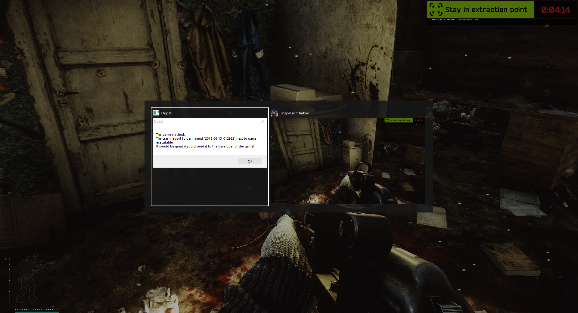 Game keeps crashing!!!!! - Game questions - Escape from Tarkov Forum