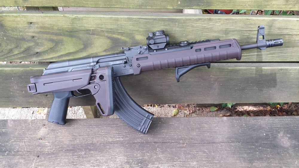 Any reason why the MAGPUL Plum furniture has incorrect color