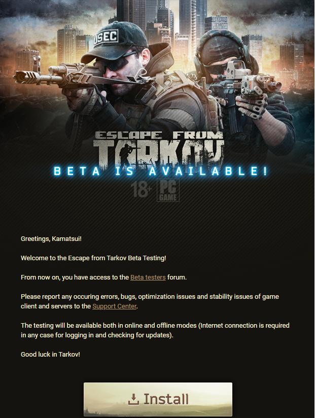 Escape From Tarkov Download